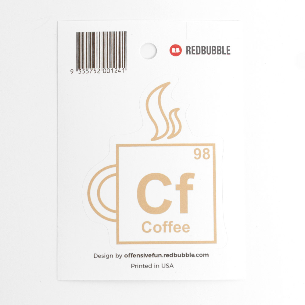 Redbubble, Sticker, Coffee